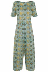 Traffic People Print Jumpsuit XS Green