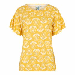 Weirdfish Hazel Light Tshirt 10 Yellow