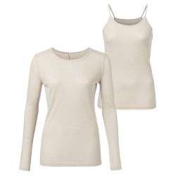 YAYA Basic Long Sleeved Top S Beach Sand