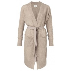 YAYA Long Belted Cardigan XS Sand
