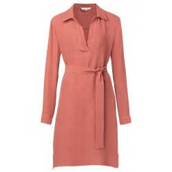 YAYA Belted Midi Dress 10 Terracotta