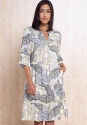 Bianca Paisley Frill Dress