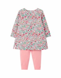 Joules Christina Dress Set 9-12m White Ditsy