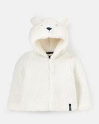 Joules Cuddle Zip Hoodie 12-18 months White Bear
