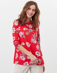 Joules Harbour Light Swing Top 8 Red Floral