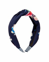 Joules Lovett Hairband Floral Navy