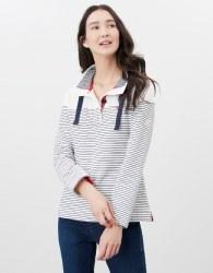 Joules Saunton Sweatshirt 8 Cream Navy Stripe