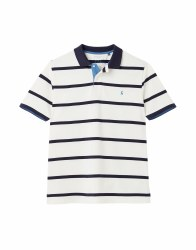 Joules Filbert Stripe Polo S Cream Stripe