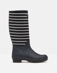Joules Tall Welly with Neoprene UK 4  Navy Stripe