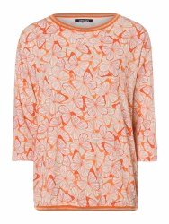 Olsen Butterfly Print Top 10 Orange