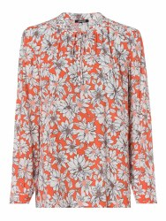 Olsen Floral Top 10 Orange
