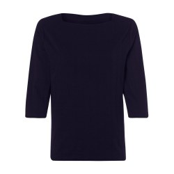Olsen Stitch Grid Top 10 Navy