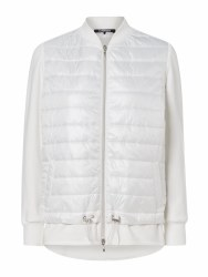 Olsen Jersey Quilted Mix Jacket 10 White