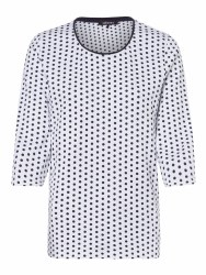 Olsen Spotty Top 10 Navy White