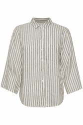 Part Two Cindie Linen Shirt 8 Vetiver Stripe