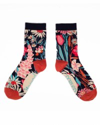 Powder Ankle Socks Navy Country Garden