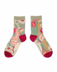 Powder Ankle Socks Mint Country Garden