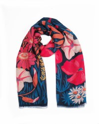Powder Print Scarf Navy Country Garden