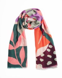 Powder Print Scarf Orange Modern Parrot