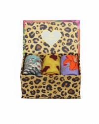 Powder Ladies Sock Gift Box Blooming Jungle Orange