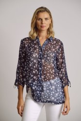 Scorzzo Sheer Floral Shirt