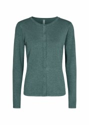 Soya Concept Round Neck Cardi S Green