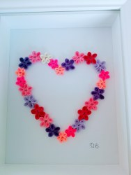 Denis Buckley - Quilled Heart of Flowers