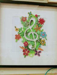 Denis Buckley - Quilled Treble Clef