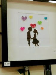 Denis Buckley - Boy & Girl with Quilled Hearts