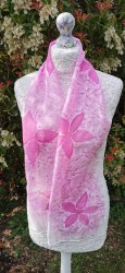 Silk Scarves by Phyllis - Pink Lily Silk Scarf