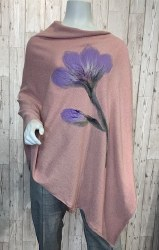 Alexa Dessign Handfelted Poncho - Pink