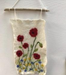 Marguerite Briggs - Felt Poppy Wall Hanging