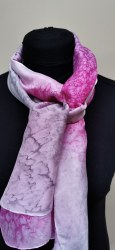 Silk Scarves by Phyllis - Pink & Silver Silk Scarf