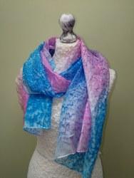 Silk Scarves by Phyllis - Rose Pink & Blue