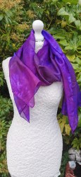 Silk Scarves by Phyllis - Purple Mix