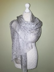 Silk Scarves by Phyllis - Silver Pashmina