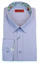Wilson & Sloane Stipple Shirt M Lilac