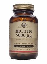 Biotin 5000 µg Vegetable Capsules