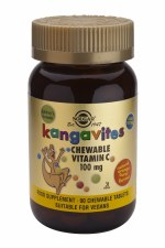 Kangavites Chewable Vitamin C 100 mg Tablets Natural Orange Burst Flavour
