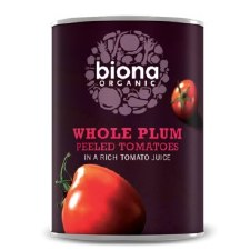 Whole Plum Peeled Tomatoes in Tomato Juice