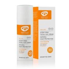 Organic Scent-Free Facial Sun Cream SPF30