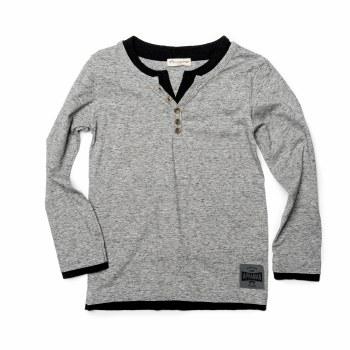 Camden LS Tee Speckle Grey 10