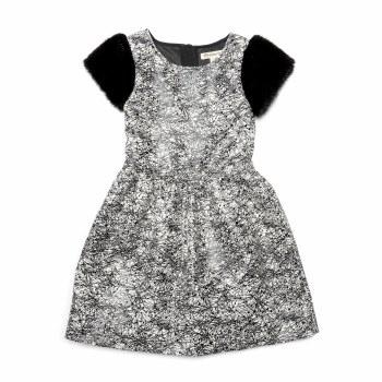 Fleur Dress Black Geo 12