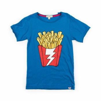 Shazam Fries Tee Blue 7