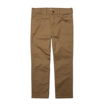 Skinny Twill Pant Dk Khaki 6