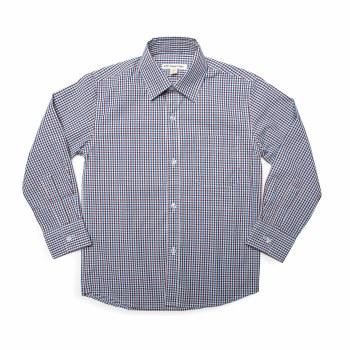 Standard Shirt Burg/Bl Gingham 3