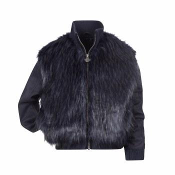Zoe Faux Fur Jacket Navy 7