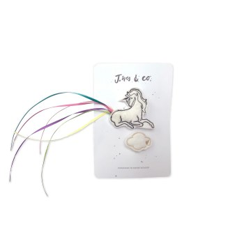 White Unicorn and Cloud Clips (Right)