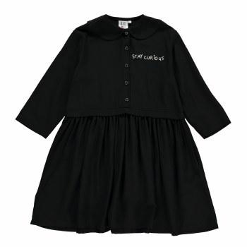 Curious Woven Collar Dress 2/3