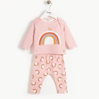 Dove Outfit Set Pink 12-18M